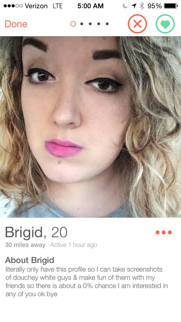 Funny female dating profile examples