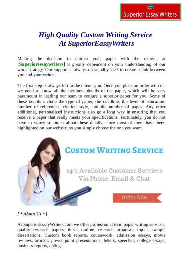 custom writing help Our service does every type of custom writing for your academic needs our professionals will help you to handle any assignment essays research papers zero plagiarism affordable pricing money back guarantee 24/7 support free outlines.
