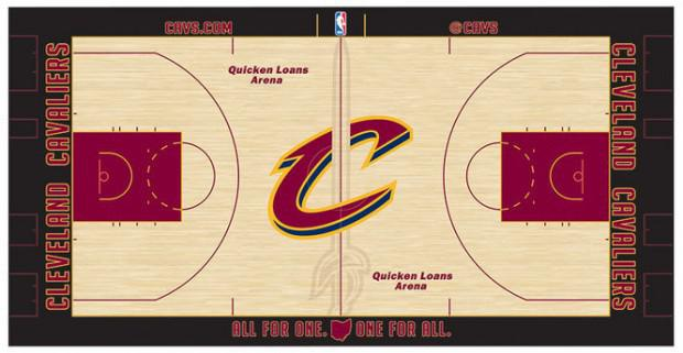 Cleveland Cavaliers Reveal New Court Design For Enam Tujuh Season