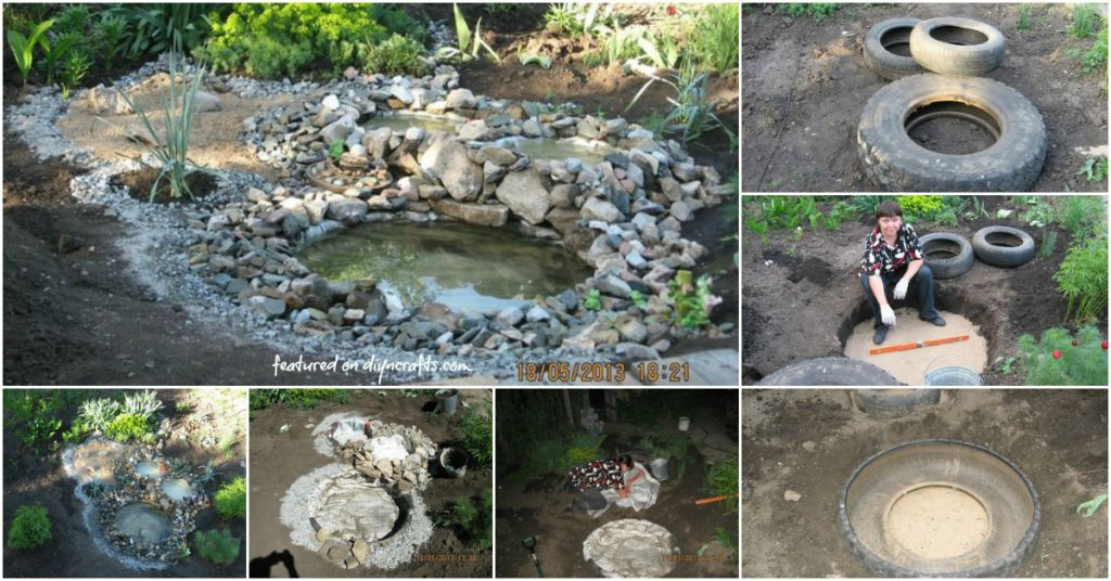 Genius Upcycling Project For Old Tires Make A Stunning Pond Garden Feature