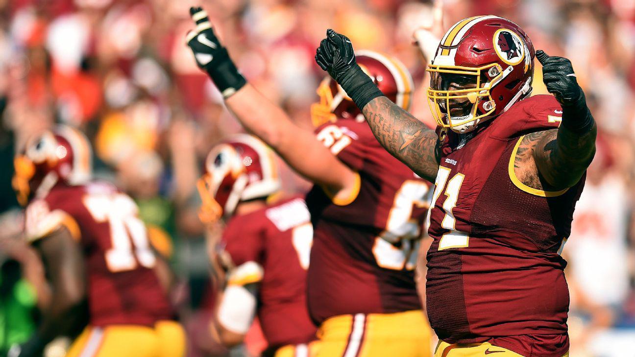Redskins >> Redskins LT Williams suspended four games