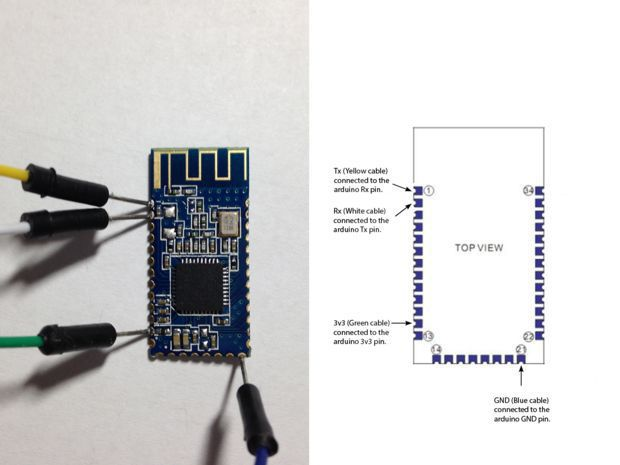 Iphone bluetooth control arduino