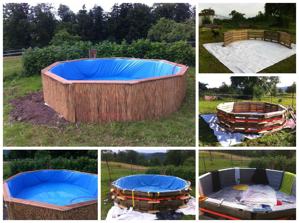 Swimming Pool Made Out Of Wooden Pallets For Under 80 1001 Pallets