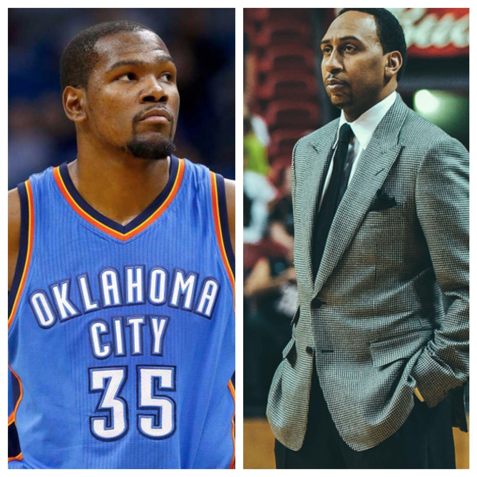 """Kevin Durant On Stephen A. Smith's Lakers 2016 Rumors: """"He"""