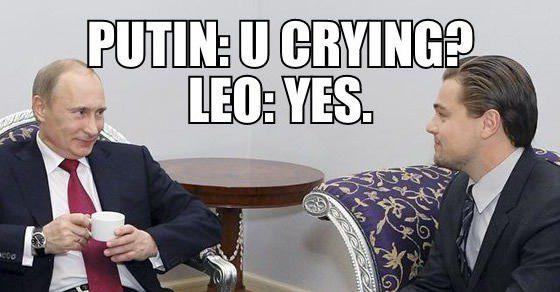 conversation between V... Leonardo Dicaprio