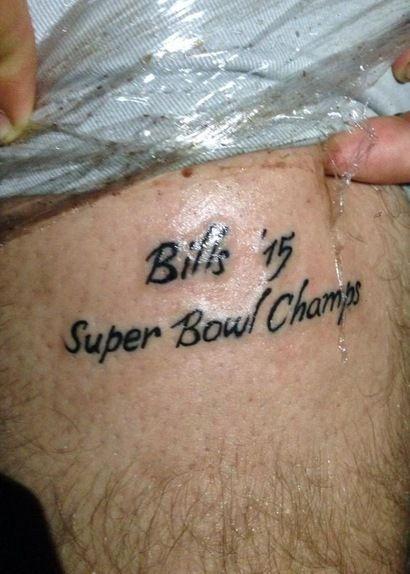 """Fan Gets """"Bills 2015 Super Bowl Champs"""" Tattoo (Photo)"""