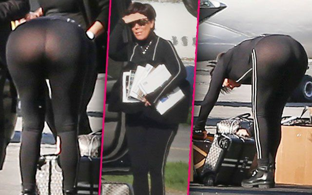 Kris Jenner Bares Her Buns After 72 Pound Weight Gain -5012