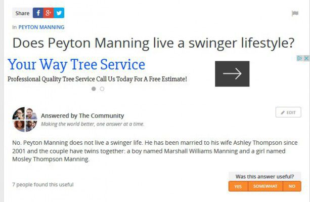 For peyton manning swinger can