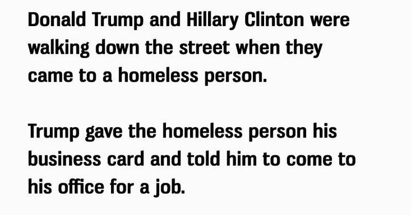 Hillary And Trump Meet a Homeless Person; What Happened ...
