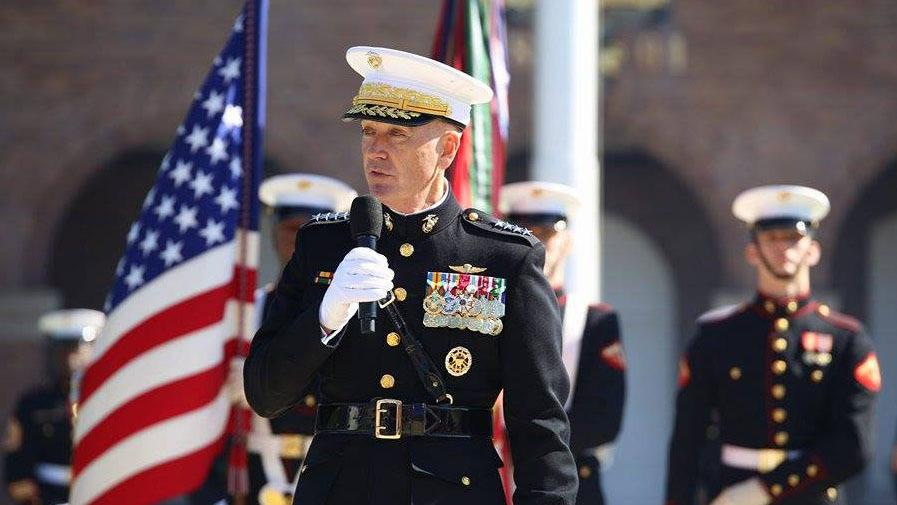 General Dunford S First Official Act As Commandant Ban