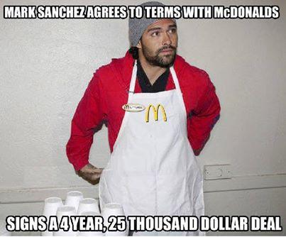 Mark Sanchez finally lands a contract.