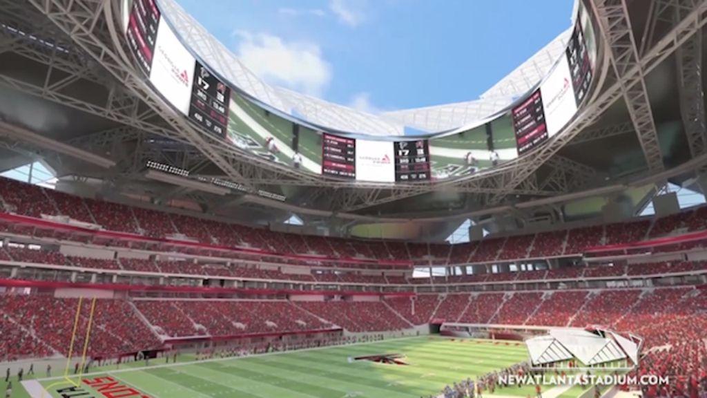 Fly through the falcons 39 futuristic new stadium for Mercedes benz stadium atlanta jobs