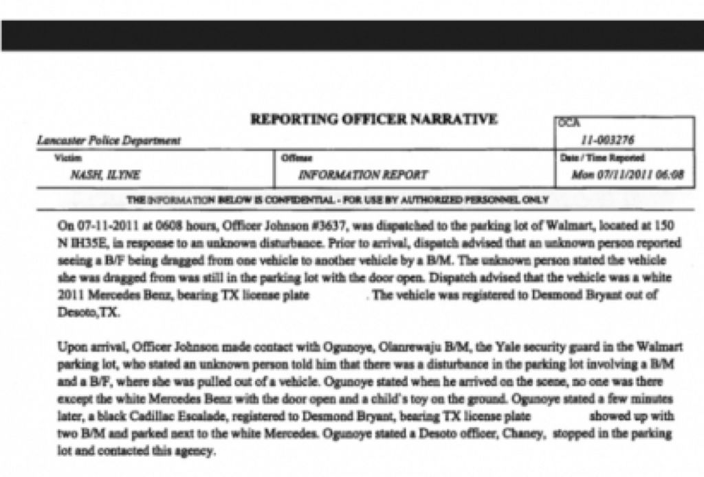 police report of dez bryants wal mart incident released