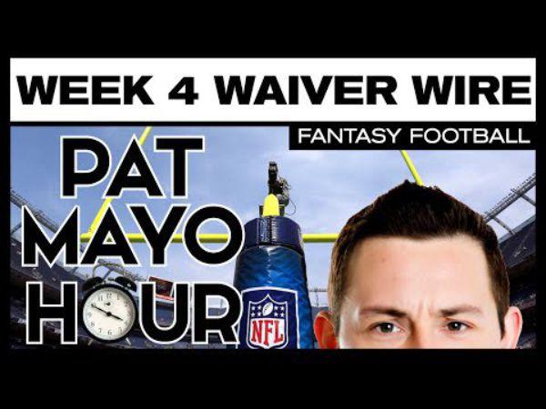 2016 Fantasy Football Week 4 Waiver Wire Pickup Rankings