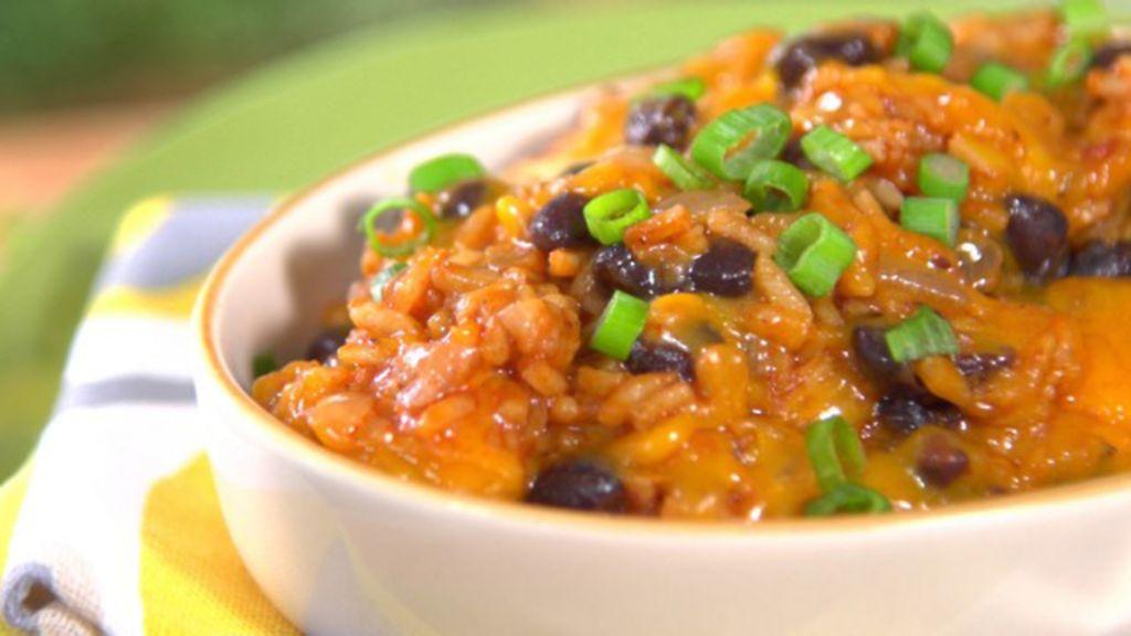 Cheesy Mexican Skillet RicePerfect Taco Night Side-Dish RECIPE
