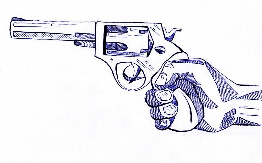 Нарисовать, крутые рисунки с оружием