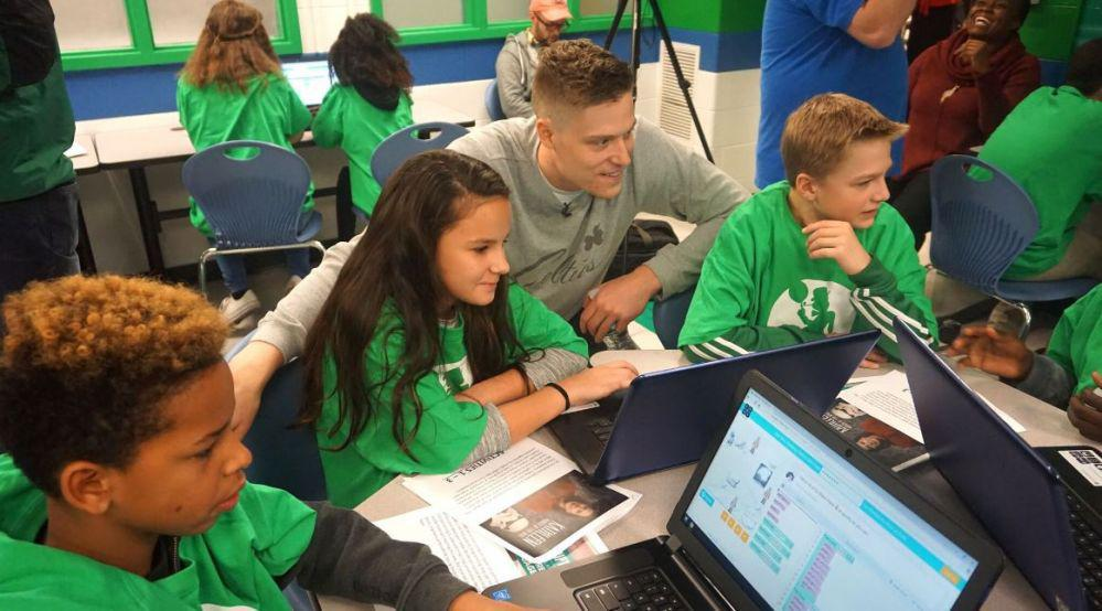 Boston Celtics Team Up With Snhu To Donate Tech Lab To Manchester Middle School Nh1