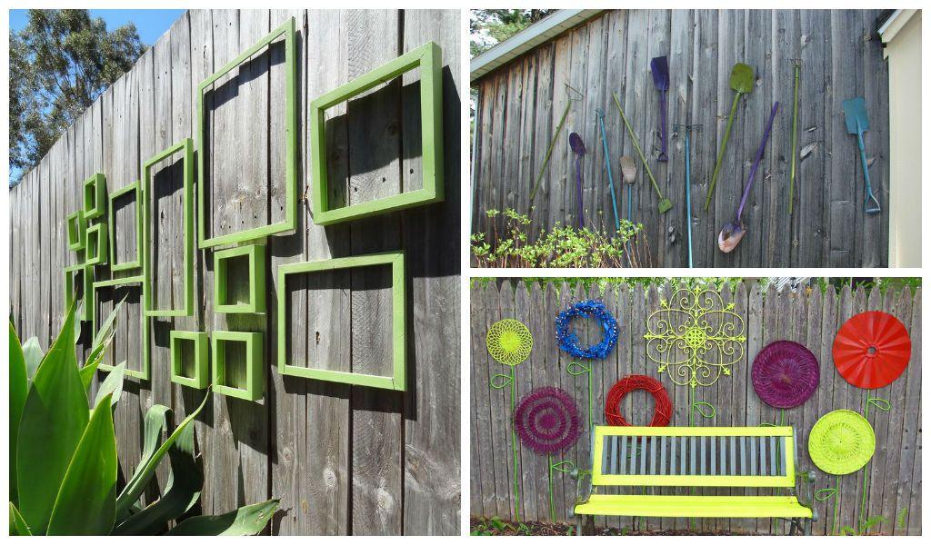25 incredible diy garden fence wall art ideas for Garden fence artwork