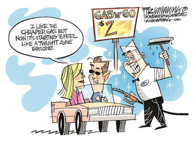 Low Gas Prices >> Editorial cartoon low gas prices Twilight Zone Political and Editorial Cartoons - The Week