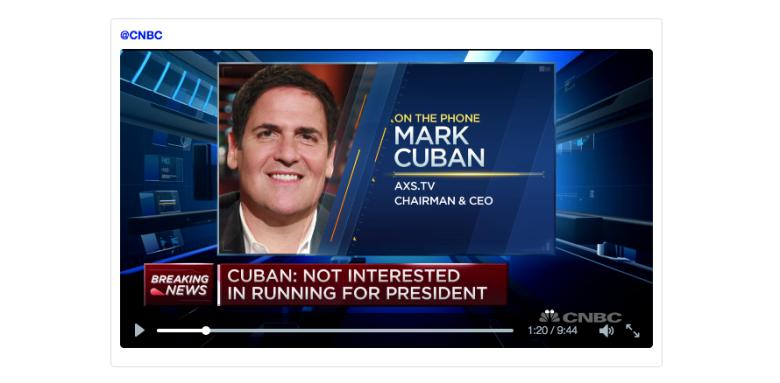 "mark cuban After donald trump announced his candidacy in 2015, mark cuban—the billionaire nba team owner and shark tank star—called him ""probably the best thing to happen."