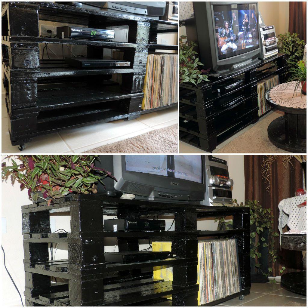 Rack feito com Pallets / Pallets TV Stand 1001 Pallets #604436 1024x1024