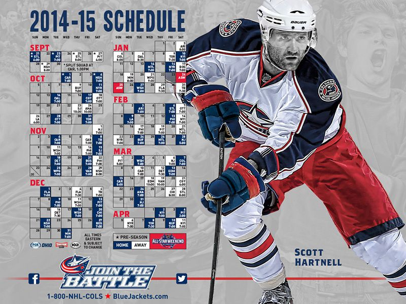 2014-15 Columbus Blue Jackets Schedule
