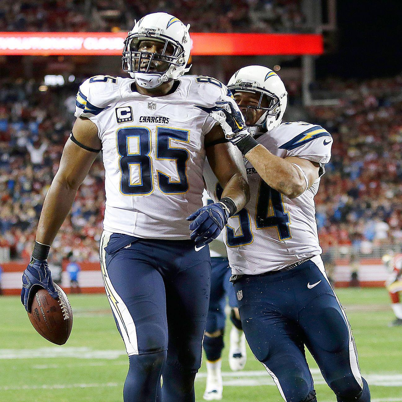 San Diego Chargers Blog: Nearing The End Of His Career, Antonio Gates Focused On