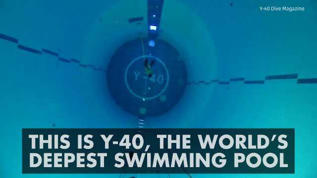 Y 40 Is The World 39 S Deepest Swimming Pool