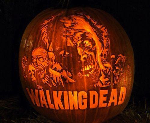 Easy pumpkin carving stencils donald trump 39 walking dead for Extreme pumpkin carving templates