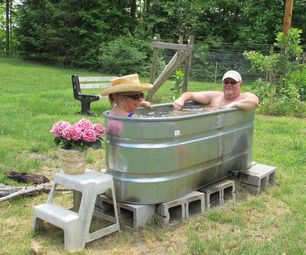 Wood fired hot tub in a day for Wood burning spa