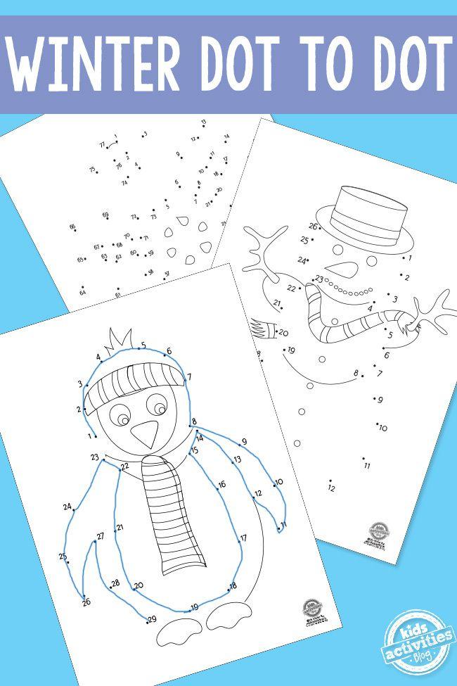 winter dot to dot kids activities blog. Black Bedroom Furniture Sets. Home Design Ideas