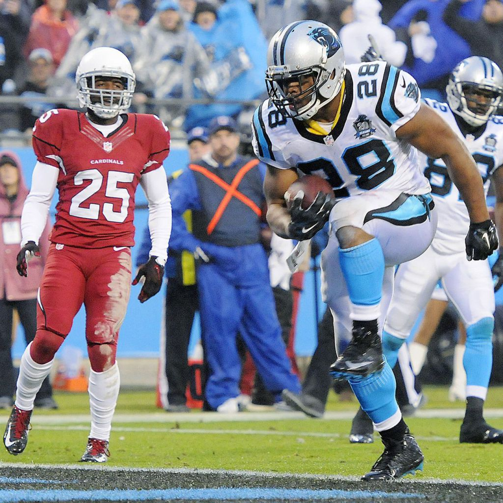 NFL Jerseys Wholesale - What Panthers RB Jonathan Stewart looks like in a Stephen Curry ...
