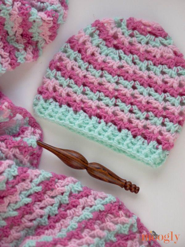 Free Crochet Pattern On Moogly : The Loopy Love Hat: Free #Crochet Pattern on Moogly!