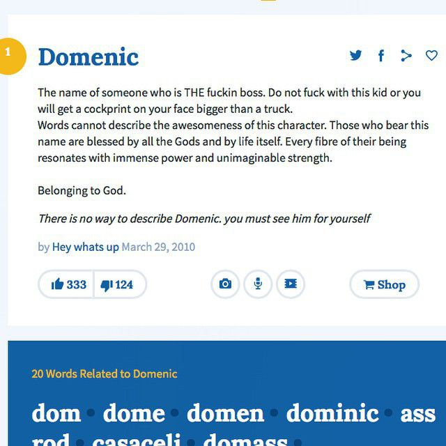 Dom urban dictionary