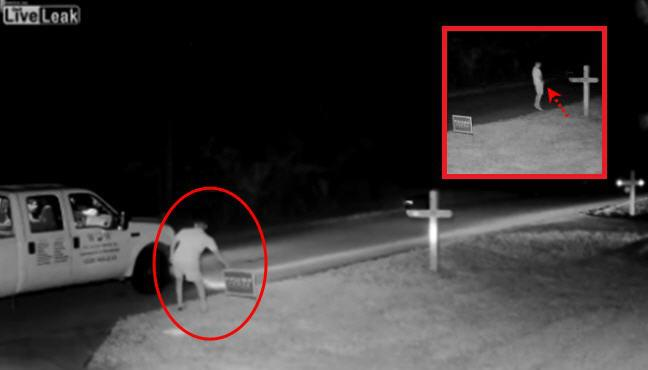 WATCH: Another Moron Caught on Camera Doing Something
