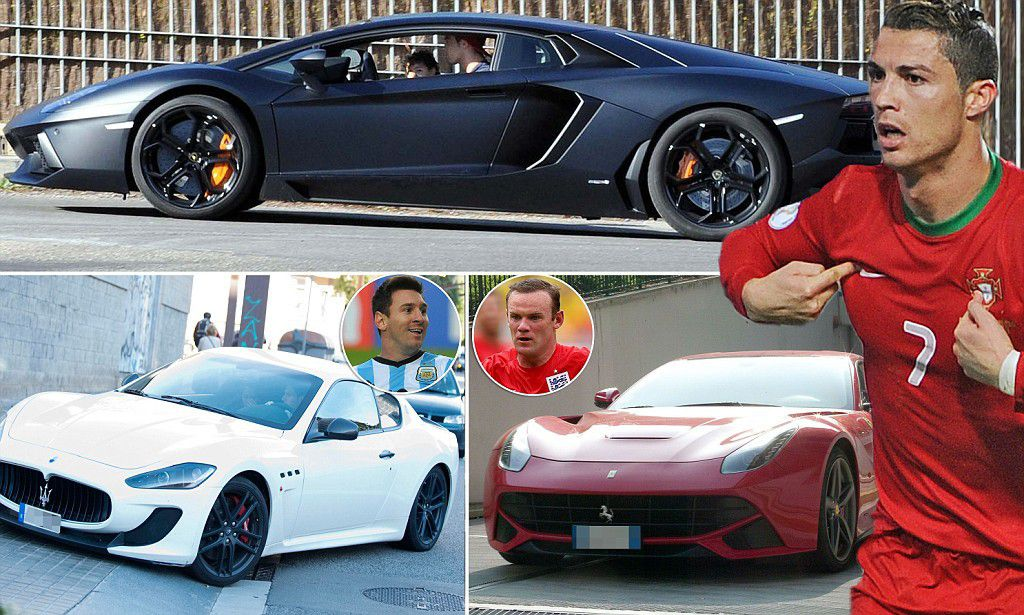 Cristiano Ronaldo  Lionel Messi  Wayne Rooney and Neymar s carsMessi Cars Collection