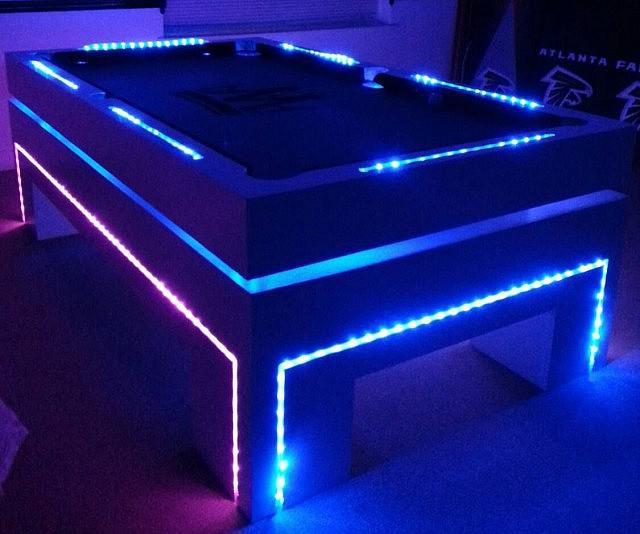Glow In The Dark Pool Table