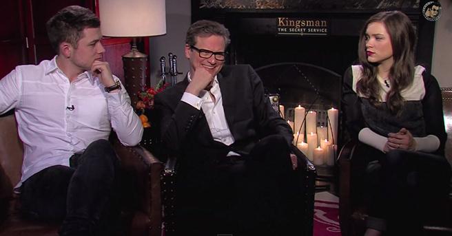 Sophie Cookson Taron Egerton Bring Kingsman The Secret: Exclusive: Colin Firth, Taron Egerton And Sophie Cookson