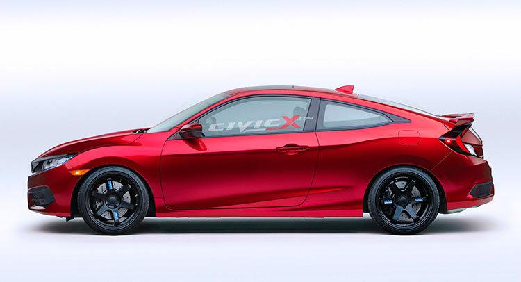 2016 Honda Civic Coupe Gets Tuned With CGI Mods