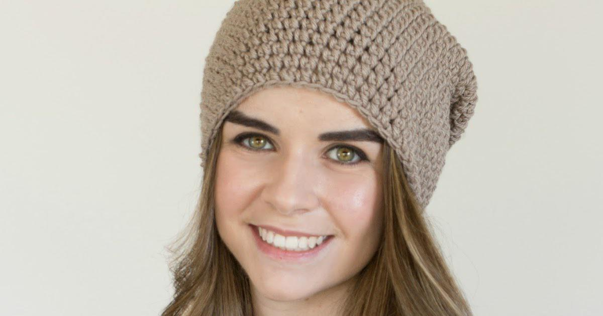 Toasted Wheat Slouchy Beanie - Free Crochet Pattern