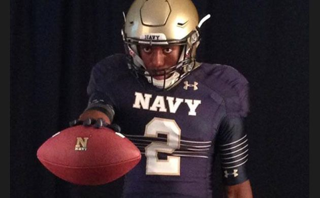 Navy unveils new Under Armour football uniforms