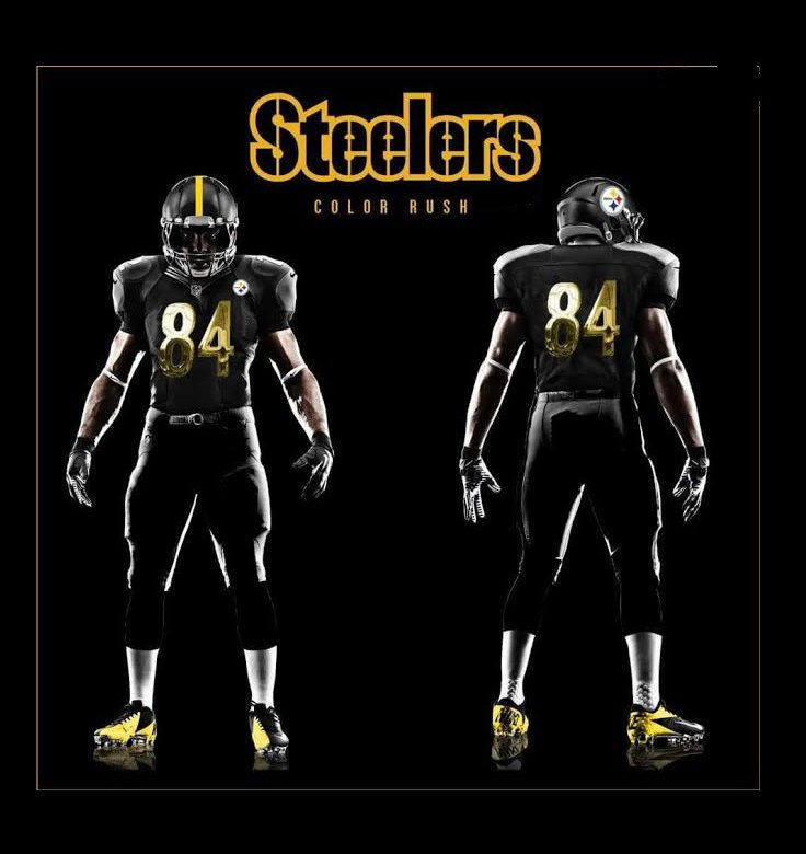new arrival 53a9d 303c5 Steelers 2017 Color Rush alternate uniforms
