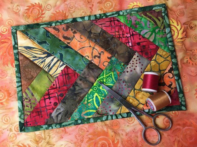 Batik Braided Mug Rug Quilting Free Pattern On Craftsy