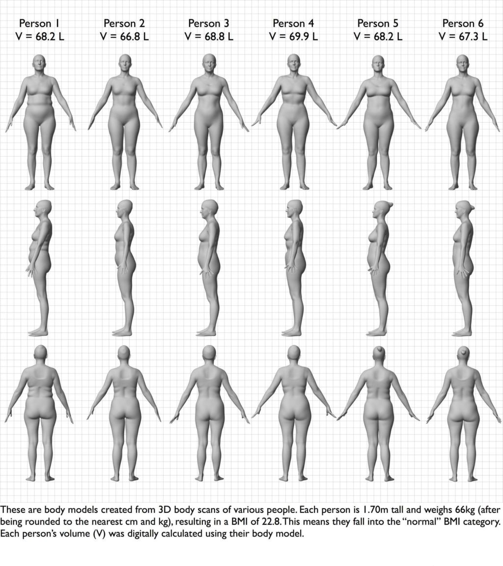 6 Women, Same Bmi, Different Bodies: Chart Proves Numbers Can't Always