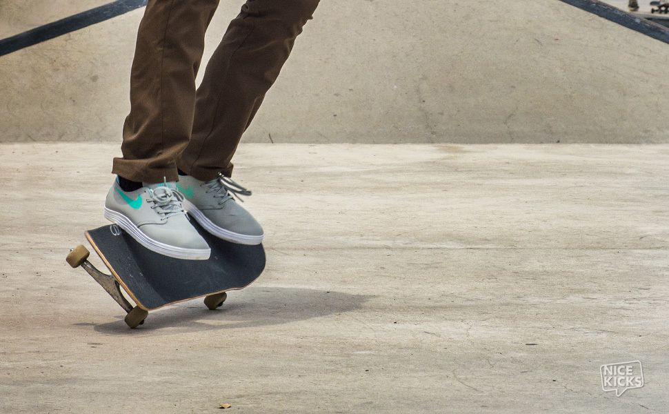 reputable site ea12c b05bc In Action  Nike SB Lunar One Shot Base Grey Crystal Mint