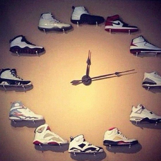 Image result for sneaker clock