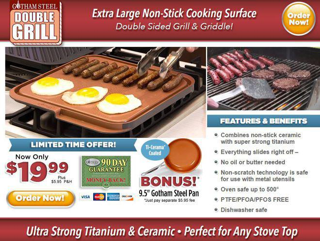 Gotham Steel Double Grill Review Two Sided Cooking Surface