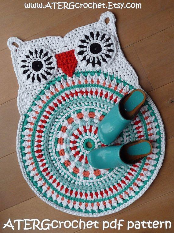 Crochet Pattern Owl Rug By Atergcrochet Xl