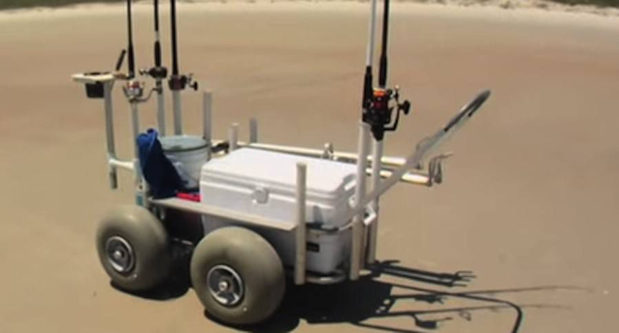 The lunar rover of surf fishing carts video wide open for Beach fishing carts