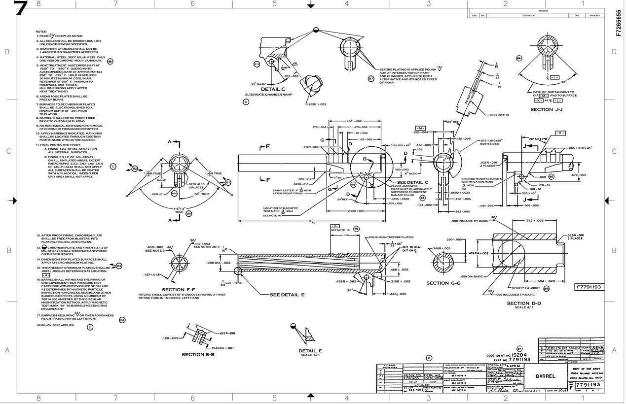 1911 Original Blueprints Gunsmithinfo Com The Firearm Blog
